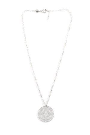 Fossil Collar color plata estilo clásico