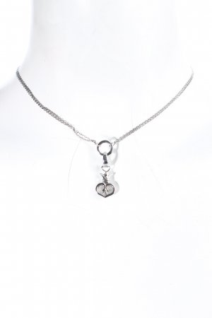 Fossil Halskette silberfarben Romantik-Look