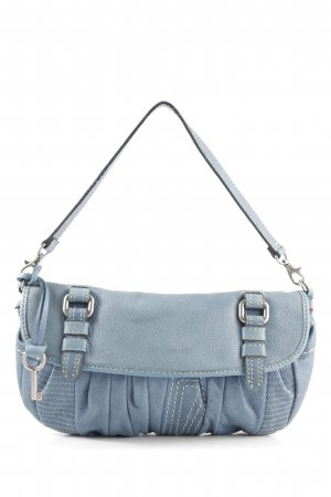 Fossil Handtasche blau Steppmuster Casual-Look