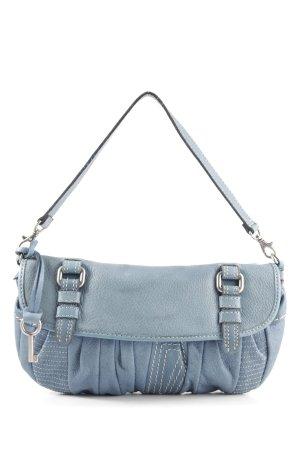 Fossil Handtasche blau Steppmuster Casual-Look