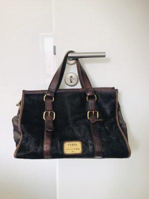 Fossil Handtasche in braun/dunkelgrün