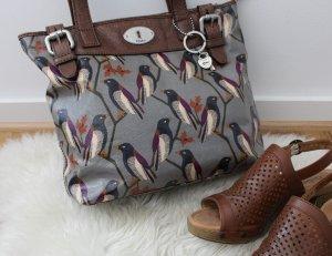 Fossil Handtasche in grau