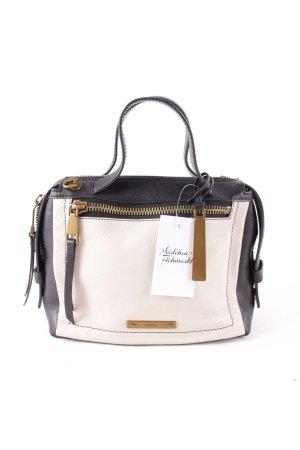 Fossil Handtasche schwarz-creme Elegant