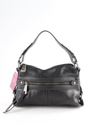 Fossil Handtasche schwarz-silberfarben Casual-Look