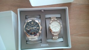 Fossil Watch With Metal Strap gold-colored stainless steel