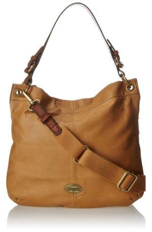 Fossil Hobo Explorer Leder Tasche Handtasche Echtleder beige nude mit Schultergurt