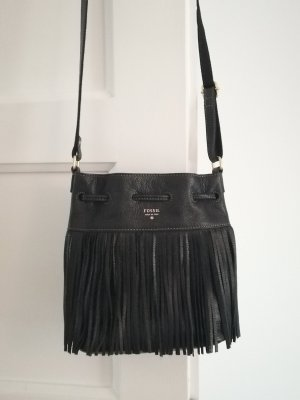 Fossil Pouch Bag black leather