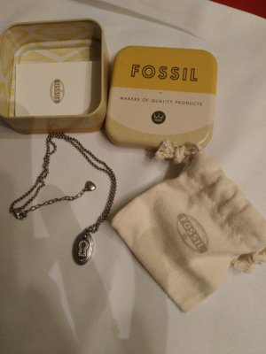 Fossil Statement Necklace silver-colored