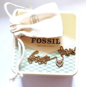 Fossil Collar amarillo oscuro-marrón arena acero inoxidable