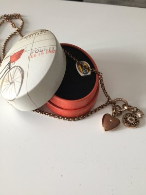 Fossil Kette Rosegold inkl. zwei Charms