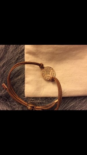 Fossil Leather Bracelet brown-gold-colored