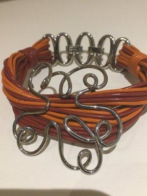 Fossil Leather Bracelet multicolored leather
