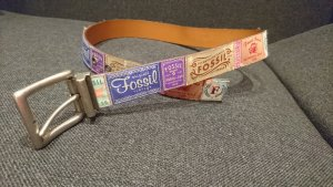 Fossil Leather Belt brown-cognac-coloured