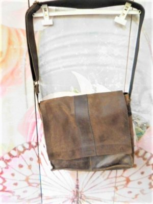 Fossil College Bag dark brown-brown leather