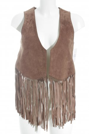 Fossil Leather Vest brown country style