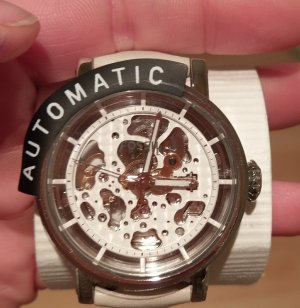 fossil me3069 automatik damenuhr neu leder armbanduhr