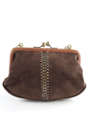 Fossil Mini Bag dark brown-gold-colored vintage look