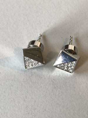 Fossil Ear stud silver-colored