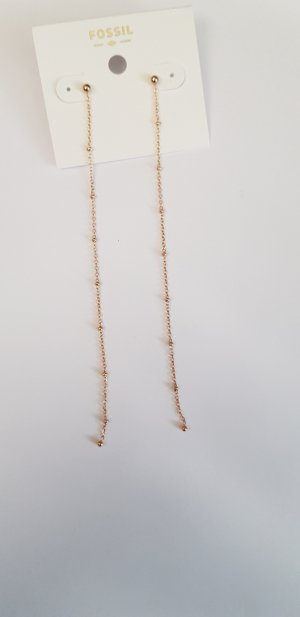 Fossil Ohrringe lang rosegold neu