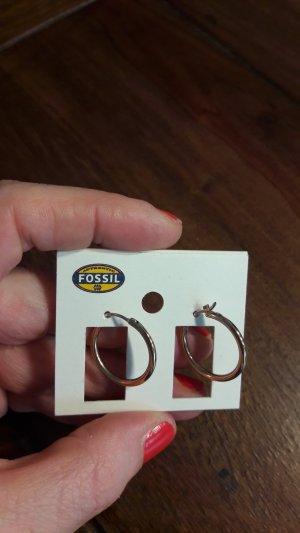 Fossil Ear Hoops light brown