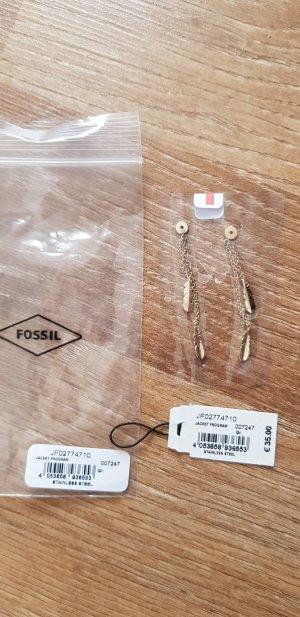 Fossil Ohrringe neu mit Etikett Feder