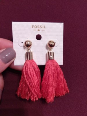 Fossil Earring gold-colored-red