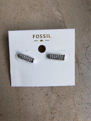Fossil Orecchino a vite argento