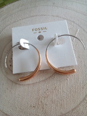 Fossil Ear stud silver-colored-rose-gold-coloured stainless steel