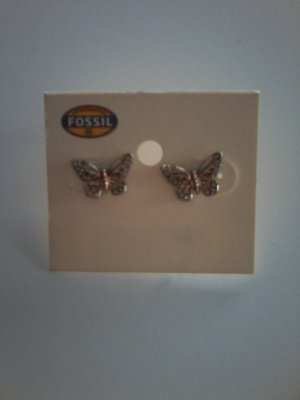 Fossil Ear stud rose-gold-coloured
