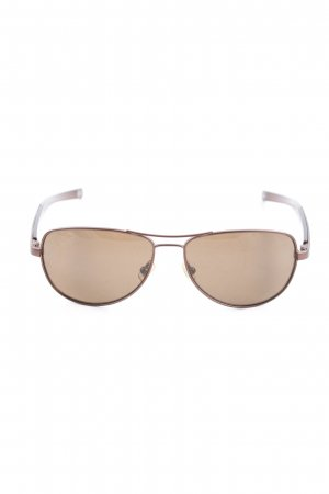 Fossil Oval Sunglasses brown casual look