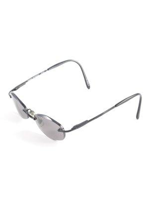 Fossil ovale Sonnenbrille schwarz Logoprägung