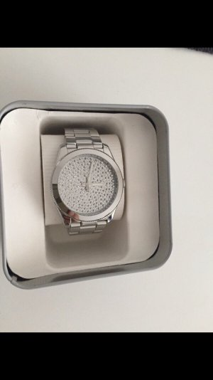Fossil Perfect Boyfriend Uhr Silber mit Zirkoniasteinchen