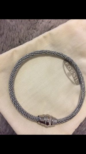 Fossil Perlchenarmband mit Magnetverschluss Edelstahl Silber