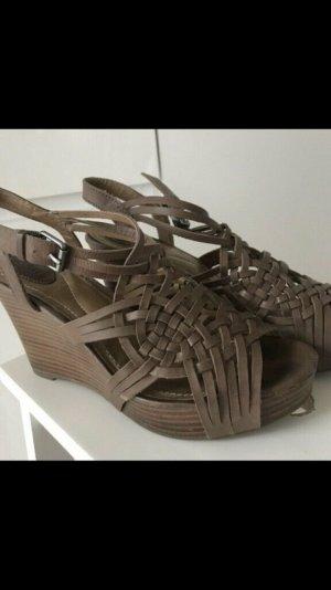 Fossil Plateauschuhe Sandalen Sandaletten Leder