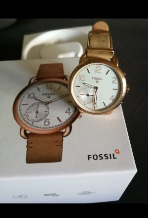 Fossil Montre analogue rose chair-beige