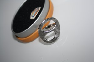 Fossil Ring silver-colored stainless steel