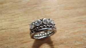 Fossil Ring Silber Edelstahl Zirkonia