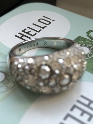 Fossil Ring Strass Zirconia