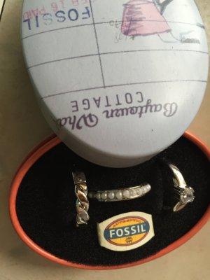 Fossil Ringe 3 Stück