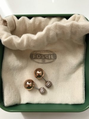 Fossil Ear stud rose-gold-coloured real silver