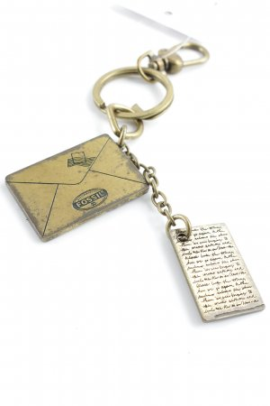 Fossil Key Chain gold-colored-black street-fashion look