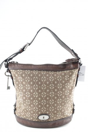 Fossil Schultertasche abstraktes Muster Casual-Look