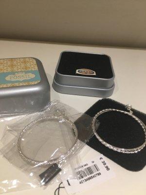 FOSSIL Set Creolen mit passendem Armband, 925 Silber, NEU und OVP!
