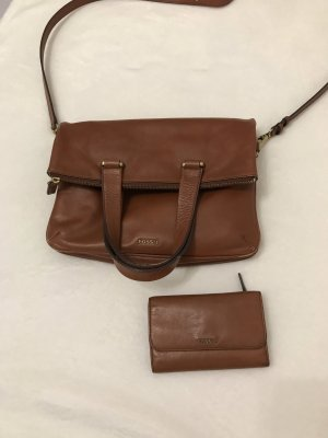 Fossil Handbag cognac-coloured