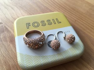 Fossil Pendant d'oreille or rose-rose
