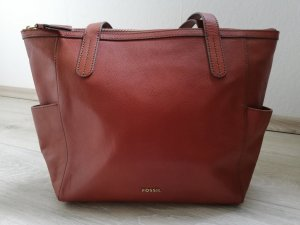 Fossil Shopper cognac-coloured-gold-colored leather