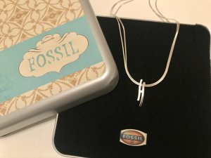 Fossil Collier Necklace silver-colored