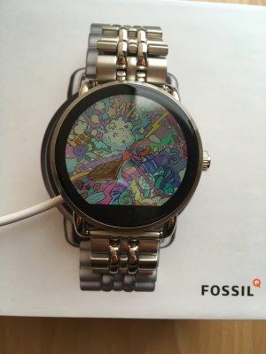 Fossil Smartwatch Q Wander Silber, Smartwatch Damen