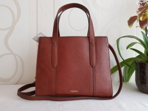 Fossil Handbag cognac-coloured-brown leather