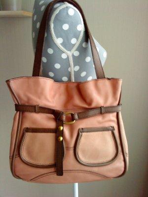Fossil Tasche * Ledertasche * rosa mit braun * ein Traum